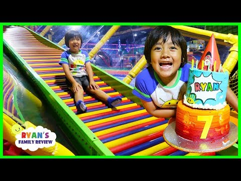 Ryan's 7th Birthday Party with Friends at Trampoline Indoor Playground!