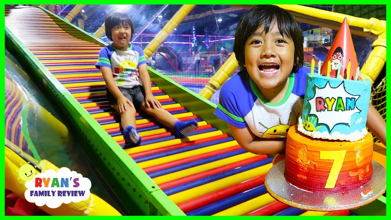 59566f7eb88 Ryan's 7th Birthday Party with Friends at Trampoline Indoor Playground!