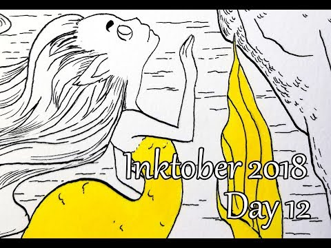 Inktober. Day 12. Mermaid