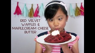 Red Velvet Waffles With Maple Cream Cheese Butter