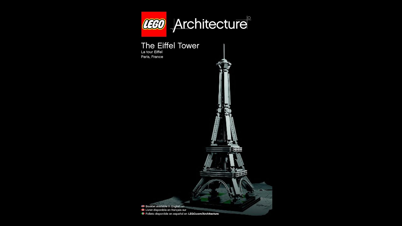 Lego Architecture 21019 The Eiffel Tower | Lego Architecture 21019 The Eiffel Tower Instructions Diy Youtube
