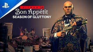 Hitman 3 - Season of Gluttony (Roadmap Trailer) | PS5, PS4