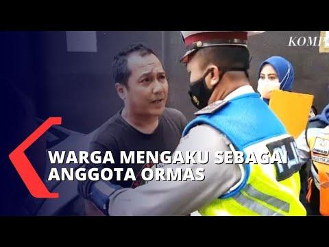 Razia Parkir Liar Diwarnai Cekcok Antara Warga Mengaku Anggota Ormas Dan Petugas TNI - Polri!