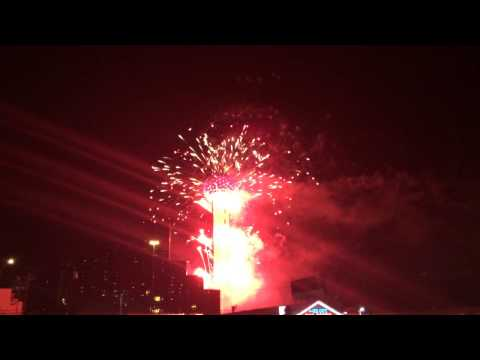 2017 New Year Fireworks At Reunion Tower In Dallas Texas