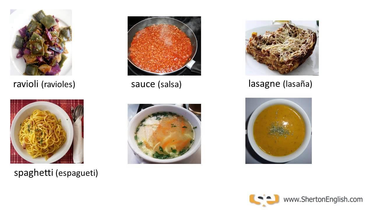 Vocabulario ingl s alimentos comidas foods meals for Como se dice cocina en ingles