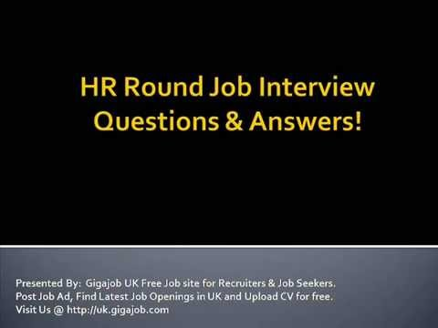 HR Round Job Interview Questions & Answers - YouTube