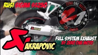 Akrapovic full system exhaust in Rusi Sigma ss250 by Zero One Moto