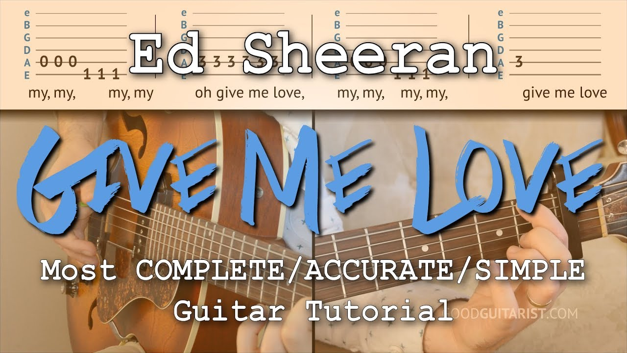 Give Me Love Guitar Lesson Chords Embellishments Youtube