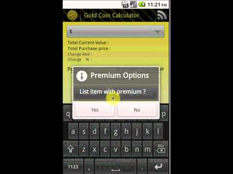 How to Use the Gold Coin Calculator Android App