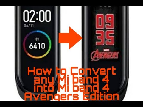 How to Convert any Mi band 4 into Mi band 4 Avengers Edition!! || Sparsh Saxena ||