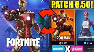 🔴 PATCH 8.50 WITH AVENGERS!! FORTNITE x AVENGERS!