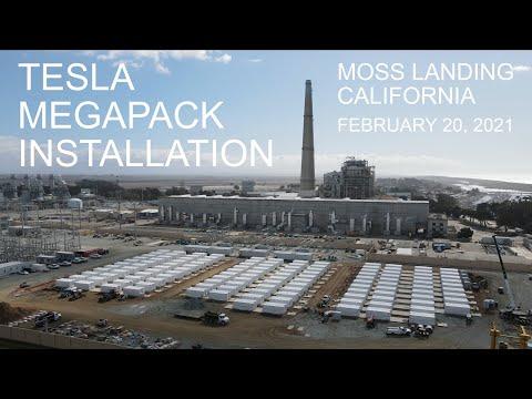 Tesla Megapack Installation Progress | Moss Landing, CA | February 20, 2021