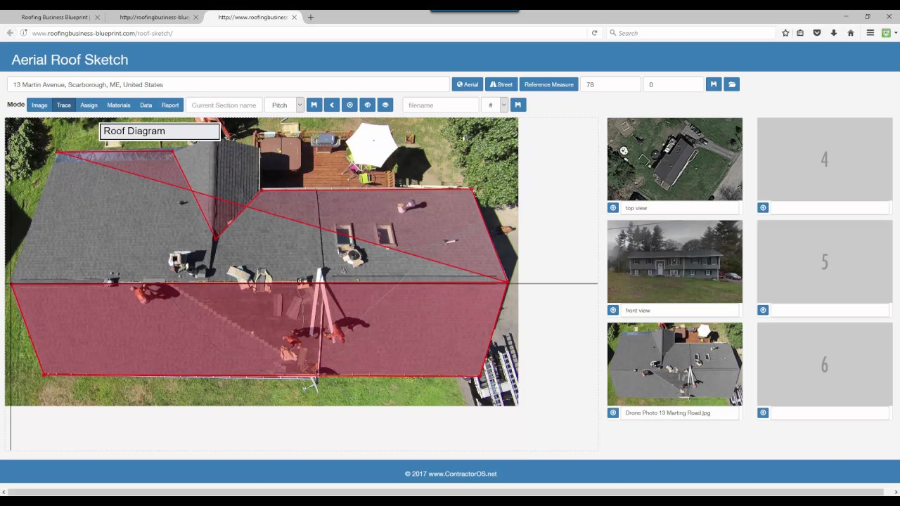 Roofing takeoff software roofers for Roof drawing software