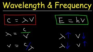 Speed of Light, Frequency, and Wavelength Calculations - Chemistry Practice Problems