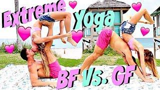 Couple Yoga Challenge Extreme! BF Vs. GF