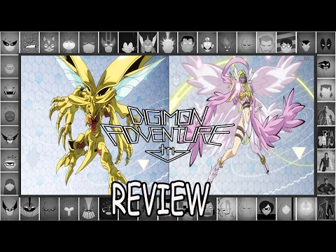 Hércules Kabuterimon e Angewomon mitaram .  Digimon Adventure Tri Confissão Review
