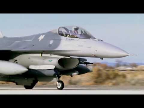 F 16 Fighting Falcons USAF  Taxi and Takeoff  Naval Air Station Fallon Nevada HD