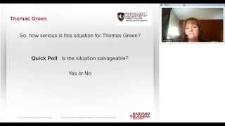 RLI Harvard Emerging Leaders Seminar Clip Three: Thomas Green: Career in Crisis Case Study