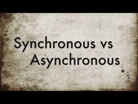 Understanding Synchronous Vs Asynchronous