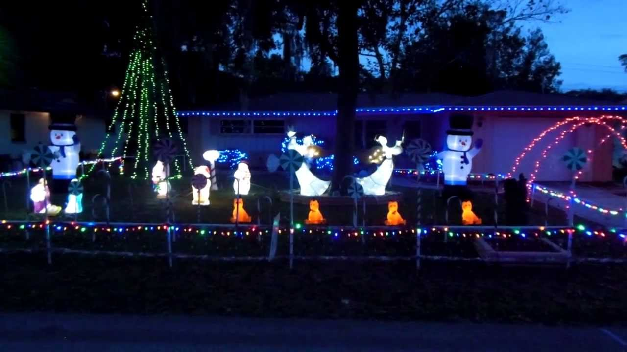 2013 mr christmas lights sound animated led lights display in spring hill florida youtube