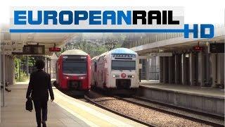 comboios de portugal 3500 emu 3529 departs fertagus 3500 emu 3511 arrives at campolide
