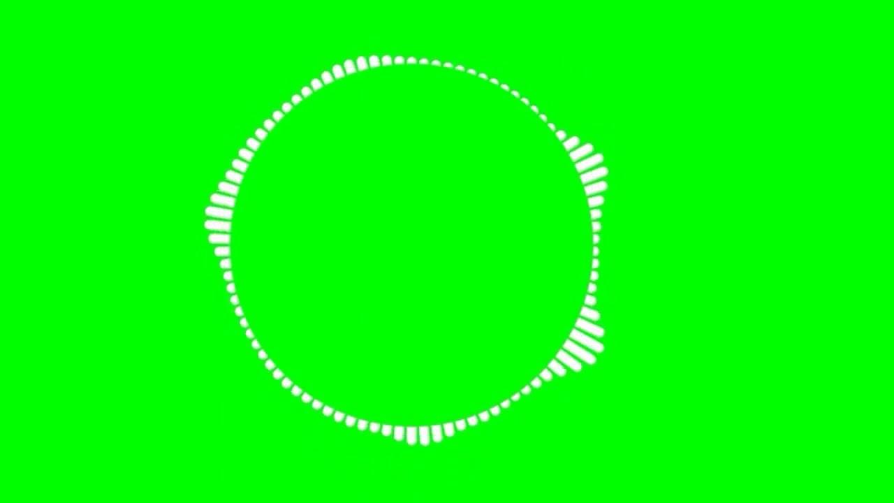 Green screen audio spectrum