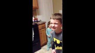 Step bro eats stink bug