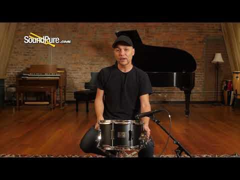 Pork Pie 7x12 Little Squealer Snare Drum-Flat Black Quick 'n' Dirty