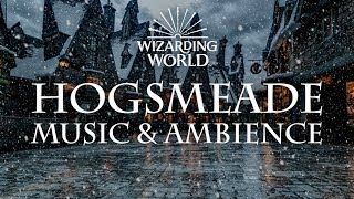 Harry Potter Music & Ambience | Hogsmeade Relaxing Music, Crowd Noise, and Snow.