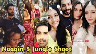 Naagin 5 Bani Veer Jai and Naagin Fam in Jungle | Naagin 5 Offscreen Telly Updates