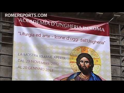 Hungarian academy exhibits modern Byzantine icons in Rome