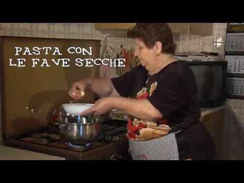 Cucina antica siciliana puntata 0   pasta con le fave secche ...