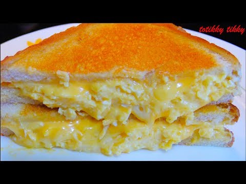 Breakfast Grilled Cheese with Soft Scrambled Eggs Recipe