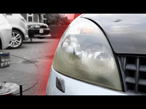 How to RESTORE YOUR HEADLIGHTS - yellow, hazy, cloudy to clear again