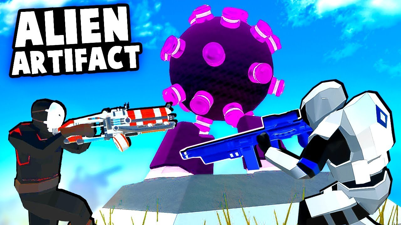 Secret ALIEN ARTIFACT On a New Map With CRAZY WEAPONS And MODELS!  (Ravenfield Best Mods)