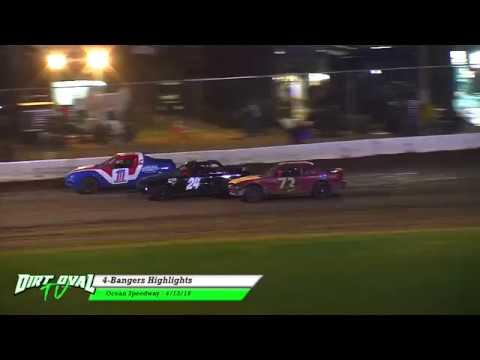 4-13-18 Ocean Speedway 4 Bangers Highlights