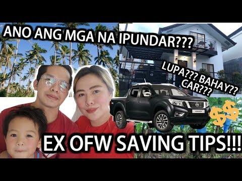 EX OFW ANO ANG NA IPUNDAR ???  EX OFW SAVING TIPS   MONEY ADVICE FOR OFWs