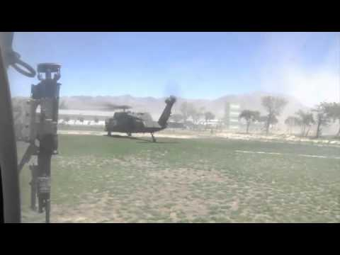 Black Hawk Over Afghanistan - Jalalabad to Kabul on the Saber Express - Helicopter Aerial Footage