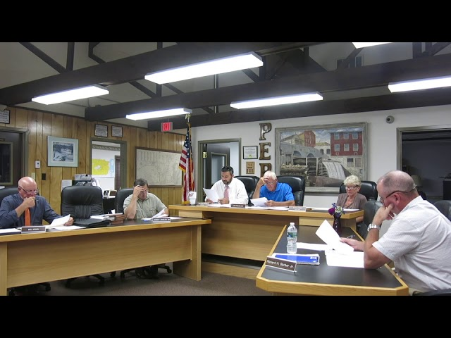 Peru Town Board Meeting  8-26-19
