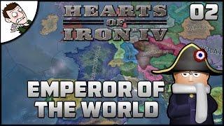 INVADING SWITZERLAND!  Hearts of Iron 4 Mod (Emperor of the World) Gameplay Part 2
