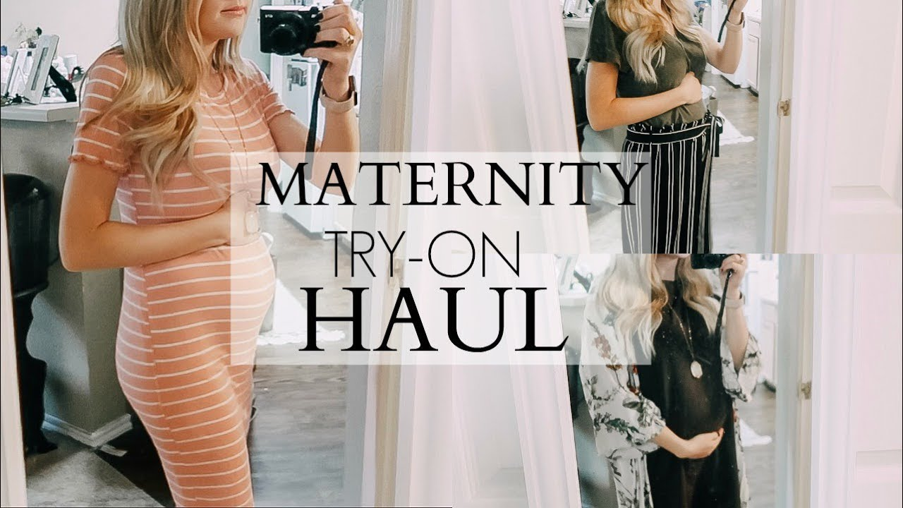 Maternity Try On Haul 20 Weeks Pregnant Shoppinkblush By Elston Family Vlogs