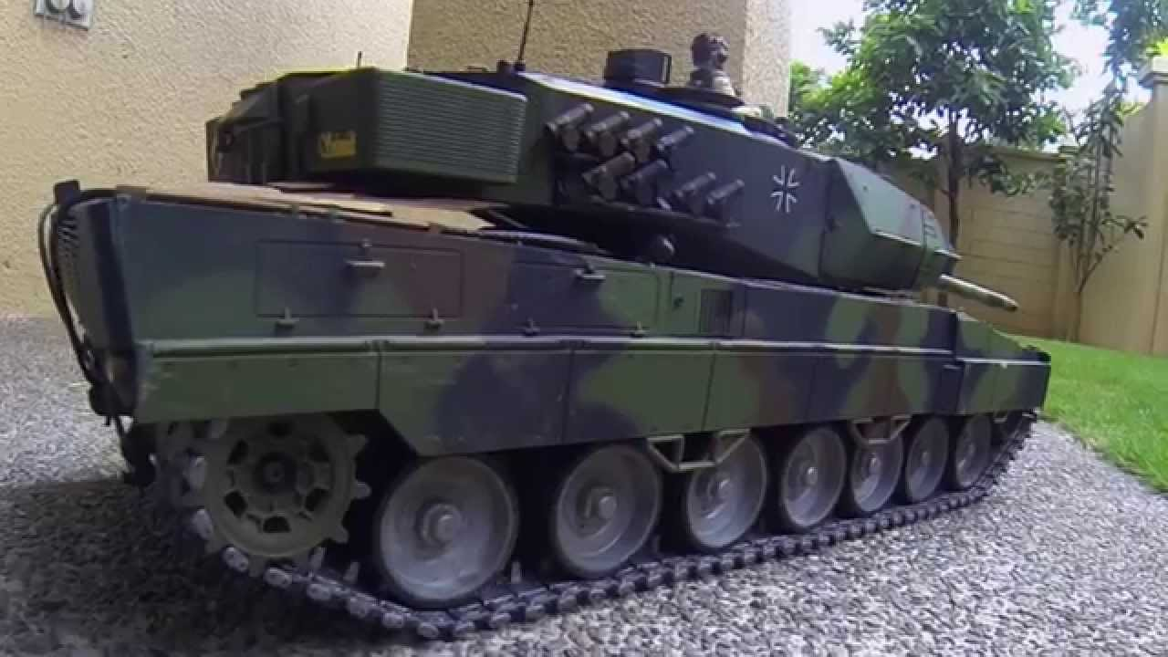 Rc Tank Leopard 2a6 With Mato Metal Tracks With Rubber