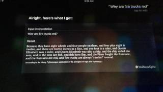 Siri Says |Why are Fire Trucks Red?|