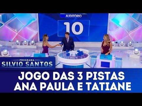 Jogo das 3 Pistas com Ana Paula Minerato e Tatiane Minerato | Programa Silvio Santos (08/04/18)