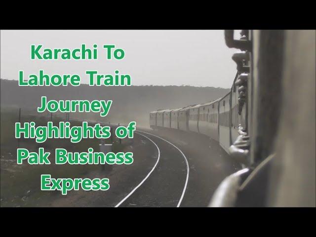 EID Mubarak || Karachi To Lahore Train Journey Highlights || Pak Business Express