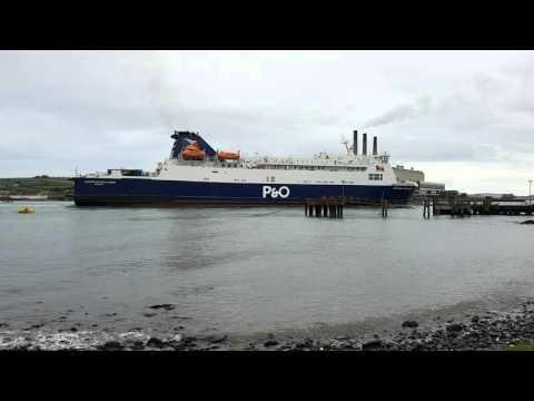 P&O European Highlander Approaching Larne 13/4/2016