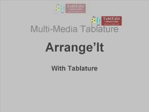 Arrange'It with Tablature by Bob Wolford: Introduction