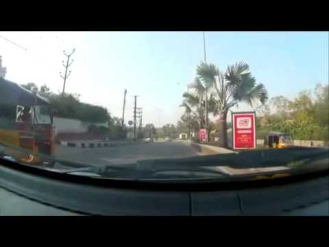 Car driving in Hyderabad, India, Driving from Masab Tank to Gacchibawli Mall