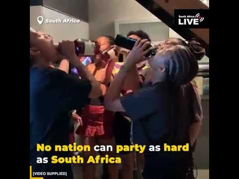 No nation can party like South Africa 😂