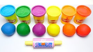 Learn Colors - Play Doh Balls Ice Cream Molds Fun for Kids